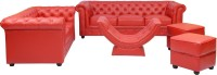 View shop klass Leatherette 3 + 2 red Sofa Set Furniture (shop klass)