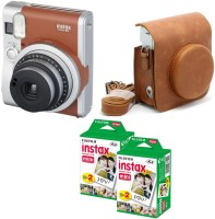 Fujifilm Mini 90 Brown with Brown case & 40 Shots Instant Camera(Black)