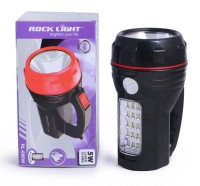 View Rocklight Rechargable Led RL686W Emergency Lights(Black) Home Appliances Price Online(Rocklight)