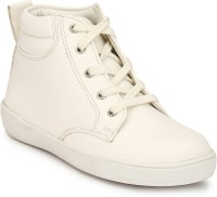 Hirel's Boys Lace Casual Boots(White)