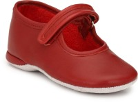 Hirel's Boys & Girls Velcro Moccasins(Red)