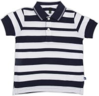 United Colors of Benetton. Boys Striped Cotton T Shirt(Blue, Pack of 1)