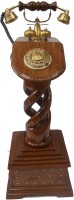 View HANDICRAFT SHEESHAMPILLAR2-500 Corded Landline Phone(Brown) Home Appliances Price Online(HANDICRAFT)