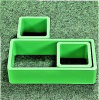 View Ganeshaas Set of 3 Green Rectangular Cubical Floating Racks MDF Wall Shelf(Number of Shelves - 3, Green) Furniture (Ganeshaas)