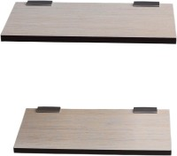 View captiver Display Wall Décor set of 2 (15X30) CM MDF Wall Shelf(Number of Shelves - 2, Yellow) Furniture (Captiver)