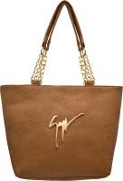 Tap Fashion Women Brown PU Shoulder Bag