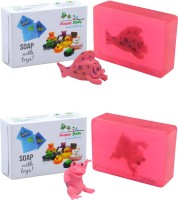 Happy Baby Luxurious Kids Soap With Toy Pink (Pack Of 2)(200 g, Pack of 2)