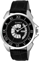 SAMEX DESIGNER DIAL WITH WORKING DAY DATE GENUINE LEATHER BRANDED FORMAL CASUAL LATEST STYLISH BEST WATCH MEN Watch  - For Men