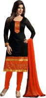 0 Chanderi Self Design Salwar Suit Material(Un-stitched)
