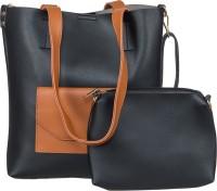 peaubella Shoulder Bag(Black, Tan)