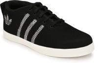Oladin Mens Black Net Casual Shoes Party Wear(Black)