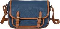 peaubella Women Blue, Tan Leatherette Sling Bag