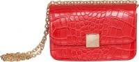 peaubella Women Red Leatherette Sling Bag