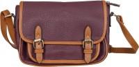 peaubella Women Purple, Tan Leatherette Sling Bag