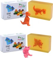 Happy Baby Luxurious Kids Soap With Toy Yellow (Y21)(200 g, Pack of 2) - Price 125 82 % Off