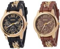 keepkart GENEVA Platinum Black And Brown Unique Designer Watch For Woman And Girls Watch  - For Women