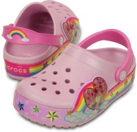Crocs Girls Slip-on Clogs(Pink)