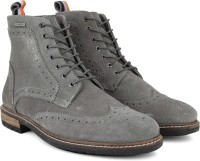 Superdry BRAD BROGUE STAMFORD Boots(Grey)