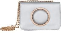 peaubella Women Silver Leatherette Sling Bag