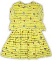 United Colors of Benetton. Girl's Mini/Short Casual Dress(Yellow, Fashion Sleeve)