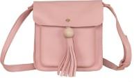peaubella Women Pink Leatherette Sling Bag