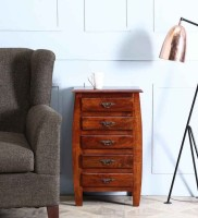 View Wood Mania Solid Wood Free Standing Chest of Drawers(Finish Color - Honey) Furniture (Wood Mania)