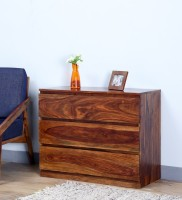 View Wood Mania Solid Wood Free Standing Chest of Drawers(Finish Color - Provincial Teak) Furniture (Wood Mania)