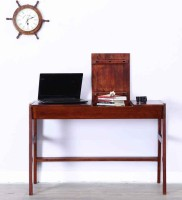 View Wood Mania Solid Wood Study Table(Free Standing, Finish Color - Honey Oak) Furniture (Wood Mania)