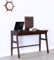 View Wood Mania Solid Wood Study Table(Free Standing, Finish Color - Provincial Teak) Furniture (Wood Mania)
