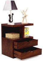 View Wood Mania Solid Wood End Table(Finish Color - Honey) Furniture (Wood Mania)