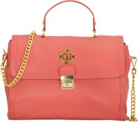 Deeanne London Women Orange Genuine Leather Sling Bag