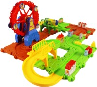 Miss & Chief Battery operated Block Train Track set 47pcs(Multicolor)