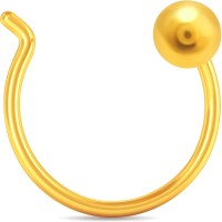KaratCraft Traditional Gold Ball 18kt Yellow Gold Nose Wire