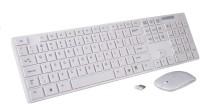 View ROQ K688 Wireless Keyboard & Mouse Wireless Multi-device Keyboard(White) Laptop Accessories Price Online(ROQ)