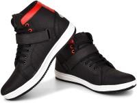 Essence Black Money Boots For Men(Black, Red)