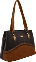 JFL-Jewellery For Less Women Black PU Shoulder Bag