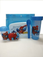 Shopkooky Spider Lunch Box Spoon Water Bottle Handkerchief Small And Carry