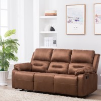 View Perfect Homes by Flipkart Wayne 3 Seater Fabric Recliner(Finish Color - Brown) Furniture (Perfect Homes by Flipkart)