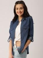 Trendyfrog Women's Solid Casual Shirt