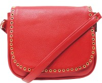 MEX Women Red Genuine Leather Sling Bag