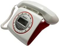 Beetel M73 Stylish Retro Design Corded Landline Phone(White, Red)