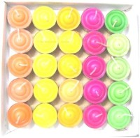 1 For Everyone 25-Rainbow Deep Candle(Multicolor, Pack of 25)