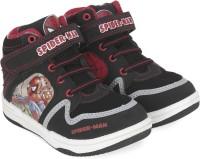 Spiderman Boys Velcro Walking Shoes(Black)