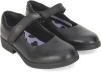 Clarks Girls Velcro Ballerinas(Black)