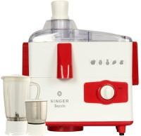 Singer Dazzle 500 Juicer Mixer Grinder(White, Red, 2 Jars)
