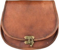 ALBORZ Women Brown Genuine Leather Sling Bag