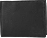 Provogue Men Black Genuine Leather Wallet(6 Card Slots)