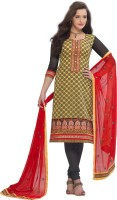 BanoRani Jacquard Embroidered Dress/Top Material(Un-stitched)