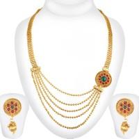 Spargz Brass Jewel Set(Multicolor)