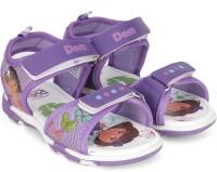 Dora Girls Velcro Sports Sandals(Purple)